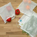 Reusable Mesh Bag with Produce from Reuseit