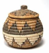 Woven Basket with Lid for Carrying Stuff