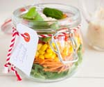 Glass Canning Jar with Salad