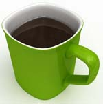 Green Coffee Mug with Black Coffee