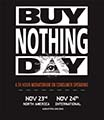 Buy Nothing Day Black Poster