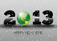Happy New Year 2013 with Green Earth