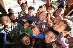 Bhutanese Children - Gross National Happiness