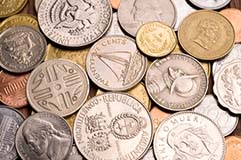 Coins of Various Currencies