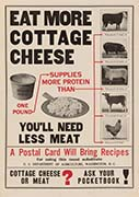 1917 USDA Eat More Cottage Cheese Poster