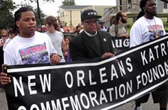 Hip Hop Caucus' Rev. Yearwood Leads March in New Orleans - Photo Credit: DCL