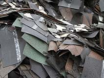Pile of Asphalt Shingle Waste