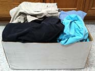 Author's Box of Clothes Ready for Donation