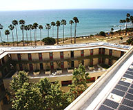 UC Santa Barbara Bren Hall Roof with Solar Panels