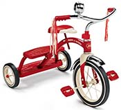 Classic Red Radio Flyer Tricycle with Bell and Handlebar Tassels