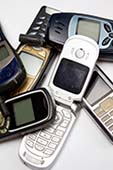 Pile of Cell Phone E-Waste