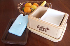 Author's Gott Lunch Tote and Basket with Fruit
