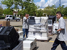 E-Waste Dropped Off During Earth Day Event - Photo: Cal Recycle