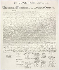 Declaration of Independence (stone engraving)