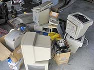 Old Electronics Stored in Garage - Photo: Jo Mangee