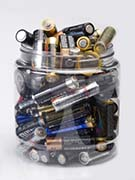 Jar Full of Used Batteries - Household Hazardous Waste