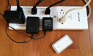 Smart Power Strip with Remote Switch - Computer Area