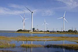 Community Energy Wind Farm in Atlantic City, NJ - Photo: Bill Wolfe