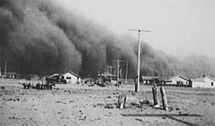 1930s Dust Bowl - Baca County, CO - Photo: D.L. Kernodle, Library of Congress