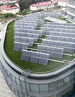 Sochi 2014 HQ Office Building with Solar Water Heating on Roof - Photo: Sochi 2014 Organizing Committee