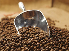 Coffee Beans with Coffee Scoop - Photo: USDA NOP