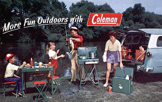 More Fun Outdoors with Coleman Vintage Ad - via Outdoor Blogger Network