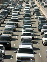 Traffic Jam on Los Angeles Freeway