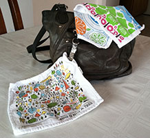 Author's Purse and Personal Towels
