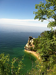 Pictured Rocks National Lakeshore on Lake Superior, Upper Peninsula, Michigan
