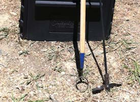 Close up of Author's Circle Hoe and Aerator