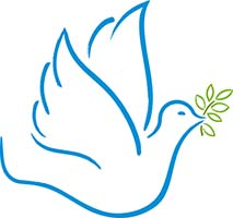 Dove Holding an Olive Branch Peace Symbol