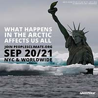 Statue of Liberty Sinking in the Arctic Ocean - Image: Christian Aslund / Greenpeace