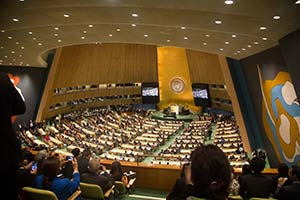 General Assembly Hall during U.N. Climate Summit 2014 - Photo: U.N