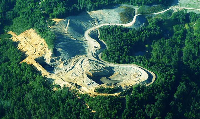 Mountain Top Removal to Extract Coal - Photo Statewide Organization for Community Empowerment