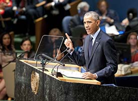 President Barack Obama Speaks at U.N. Climate Summit 2014 - Photo U.N. / Kim Haughton