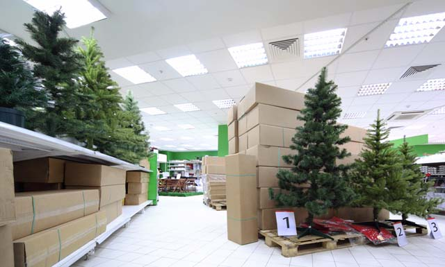 Artificial Christmas Tree Store Display