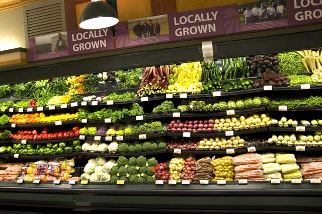 Grocery Market Locally Grown Produce Section
