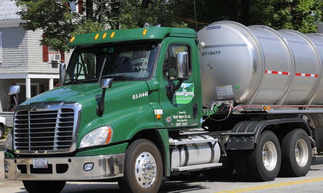 Poland Spring Tanker Truck Carrying Water for Bottling - Photo: Portland Press Herald - John Patriquin