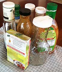 Open Hardly Used Salad Dressings