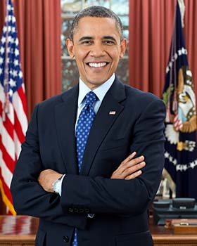 President Barack Obama - Official White House Portrait Photo: Pete Souza 2012-12-06