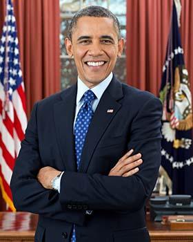 President Barack Obama - Official White House Portrait Photo: Pete Souza 2012-12-06