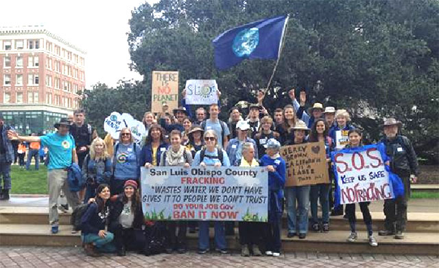 San Luis Obispo County Contingent at March For Real Climate Leadership - February 7, 2015
