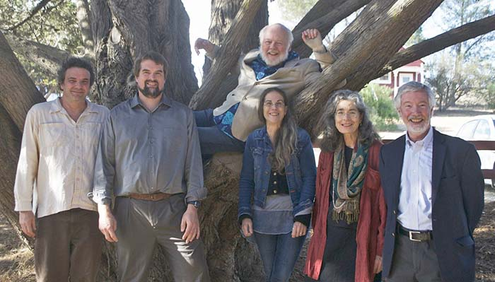 Ecologistics Deep Ecology Collaboratory Topic Leaders on October 23, 2016 - Photo Ecologistics From left to right: Derrick Jensen, Joe Bish, Dave Foreman, Eileen Crist, Stephanie Mills, Bill Ryerson