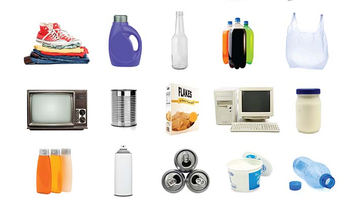 Recyclable Items Poster - America Recycles Day