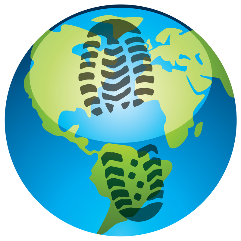 Footprint on Earth Globe - Carbon Footprint