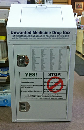 Medicine Disposal Kiosk at Cambria Drug & Gift Pharmacy