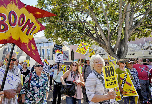 SLO Clean Energy Crossroads March and Rally March 13, 2017