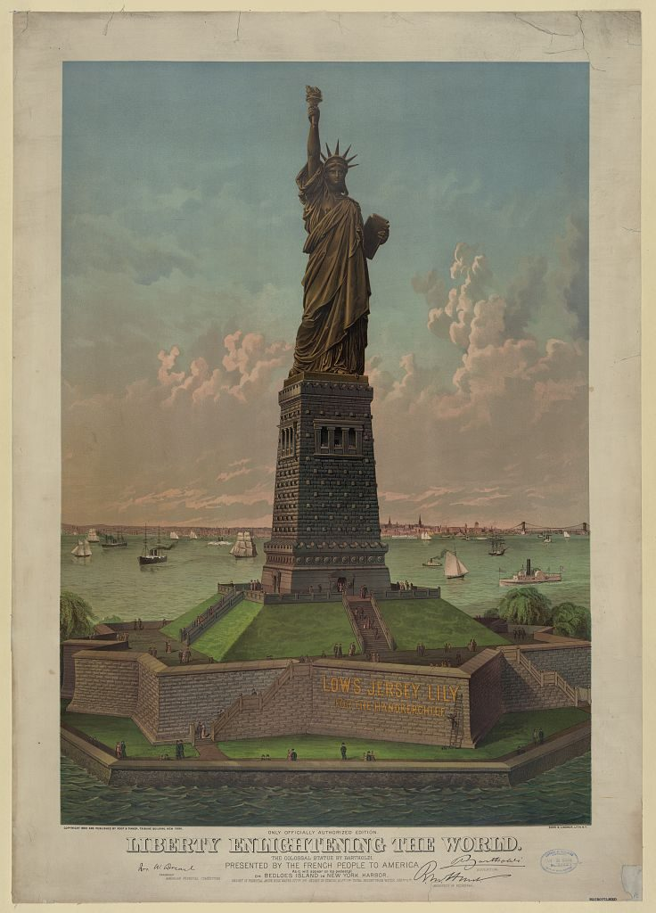 Liberty Enlightening the World Poster 1884
