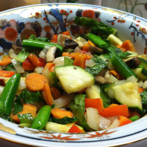 Stir Fry Vegetables Made with Ugly Carrots