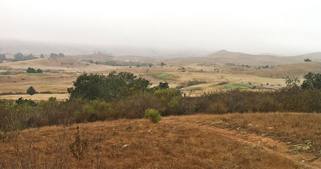 View Looking Away from Sacred Chumash Grinding Stones near Eagle Rock Nature Trail in San Luis Obispo, CA